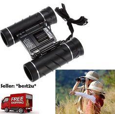 JINJULI 20 x 22 Binoculars Small Compact Travel Pocket Hunting Outdoor Foldable