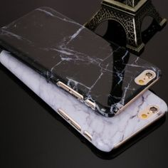 Black marble iPhone 6 case Its a hard protective case! Brand new still in packaging! Feel free to make an offer, price is negotiable:) Accessories Phone Cases Cool iPhone stuff