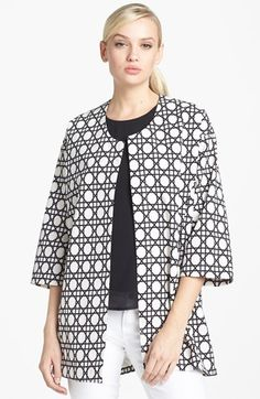 Harlowe and Graham Graphic Print Swing Coat | Nordstrom now 64.80 40%