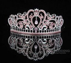 2015 New fashioin Trendy crystal Princess crown zinc alloy bridal tiar –…