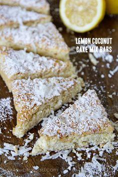 Lemon Coconut Cake Mix Bars