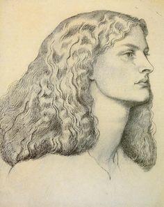 Portrait of Annie MillerDante Gabriel Rossetti