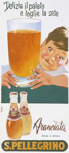 Aranciata: the delightful thirst quencher! like drink vintage Vintage Italian Posters, Pub Vintage, Vintage Advertising Posters, Advertising Signs, Vintage Advertisements, Poster Vintage, 80s Ads, Retro Ads, Vintage Food Labels
