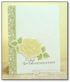 Yellow Rose kth by kthaman - Cards and Paper Crafts at Splitcoaststampers