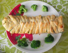 Zapiekany warkocz z kurczakiem i brokułami