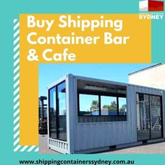 If you've ever considered opening a shop, or cafe, but balked at the real estate or rent costs, then a alternative might be right for you. With this option you hire the Container Restaurant, Container Bar, Buy Shipping Container, Shipping Containers, Portable Bar, Containers For Sale, Cafe Bar, Sydney, Alternative