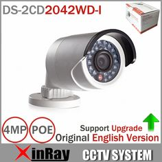 Original DS-2CD2042WD-I Full HD 4MP High Resoultion 120db WDR POE IR IP Bullet Network CCTV Camera English Version #jewelry, #women, #men, #hats, #watches, #belts, #fashion