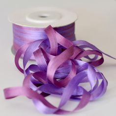 Variegated Silk Ribbon for Embroidery Pure Mulberry Double Faced Thin Taffeta Silk Trim Lace Tape Lace Tape, Silk Ribbon, 100 Pure, Ribbons, Sewing Crafts, Candle Holders, Arts And Crafts, China, Pure Products