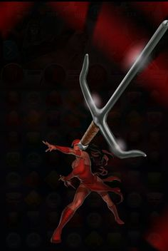 #Elektra #Fan #Art. (Elektra (Unkillable) Double-Double Cross Move, In: Marvel Puzzle Quest!) By: AMADEUS CHO! (THE * 5 * STÅR * ÅWARD * OF: * AW YEAH, IT'S MAJOR ÅWESOMENESS!!!™)[THANK Ü 4 PINNING<·><]<©>ÅÅÅ+(OB4E)  https://s-media-cache-ak0.pinimg.com/474x/1a/05/85/1a0585994d4d47be24a9f6f15813823b.jpg