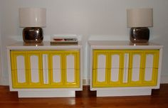 LARGE Vintage Matching Pair Hollywood Regency Ornate Chests