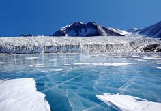 Fryxell lake, at the bottom of Canada Glacier, Antartica (source: wiki)