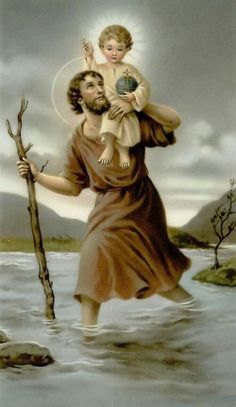 St. Christopher pray for us Sacred Heart of Jesus hear our prayers