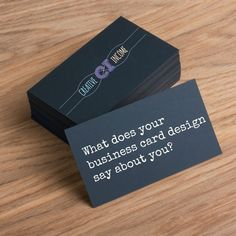 what does your business card design say about you