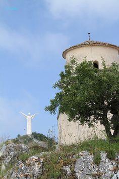 Cristo di Maratea is a colossal sculpture placed on the top of Mount San Biagio, above Maratea, Potenza, Basilicata, Italy