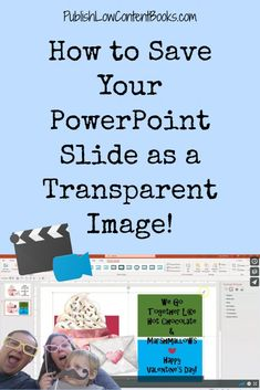 Quick Tip: How to Save Your PowerPoint Slide as a Transparent Image ⋆ Publish Low Content Books Technology Hacks, Teaching Technology, Computer Technology, Educational Technology, Powerpoint Tutorial, Powerpoint Tips, Microsoft Powerpoint, Computer Help, Computer Tips