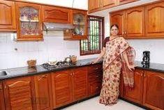 Indian kitchen design small kitchen interior design ideas in Simple Kitchen Design, Kitchen Room Design, Interior Design Kitchen, Home Design, Küchen Design, Design Ideas, Kitchen Cupboard Designs, Kitchen Designs Photos, Layout Design