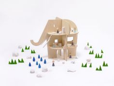 Houten Poppenhuis – Olifant