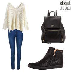 Wygodna stylizacja na chłodniejsze dni :)  #eksbut #stylizacja #stylizacje #stylization #stylizations #women #kobieta #shoes #buty #boots #fashion #moda #style