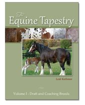 Excellent reference on coat colors as they pertain to breeds of horses.  Volume 1 is Draft and Coaching breeds.