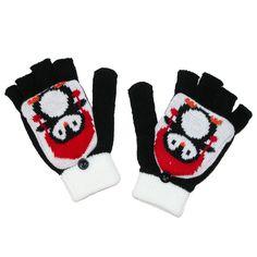 Aquarius Kids' Penguin Knit Glommit Convertible Glove