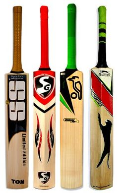Good Looking! Cricket Gear increasingly looks better with colours and shapes. The bats almost look alive with their own personalities. Full Range of Cricket Bats