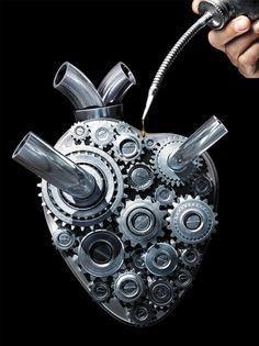 Oiling your Robotic Heart - human body and organs perform like machines… Heart Art, My Heart, Seagulls Flying, Steampunk Heart, Herz Tattoo, Geniale Tattoos, Tin Man, Anatomical Heart, Human Heart