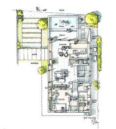 Interior Design Vector, Interior Design Sketches, Floor Plan Sketch, Modular Housing, Mansion Designs, House Sketch, Plan Drawing, Architecture Plan, Architect Design