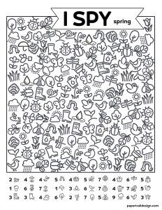 Free Printable I Spy Spring Activity - Paper Trail Design Morning Activities, Fun Classroom Activities, Free Activities For Kids, Preschool Worksheets, Cat Activity, Activity Sheets, Vanellope Y Ralph, I Spy Games, Trip Games