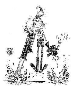 Instagram Comic Books Art, Comic Art, Wolverine Art, Batman And Catwoman, Finn The Human, Skottie Young, Psylocke, Transformers Art, Black Women Art
