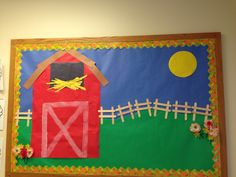 Resultado de imagem para best farm themed art activities infants and preschool Farm Animal Crafts, Farm Crafts, Daycare Crafts, Preschool Crafts, Farm Animals, Preschool Farm, Kids Crafts, Farm Bulletin Board, Toddler Bulletin Boards