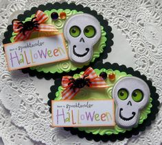 Halloween EmbellishmentsSet of  Skeleton by sarasscrappin on Etsy, $3.29