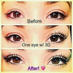 Who wants just ok lashes when you can have beautiful lashes by Younique. 3d Fiberlash Mascara increases your lash length and volume by up to 300%. Order at www.youniquelysherry.com. or click on the picture $29 3d mascara