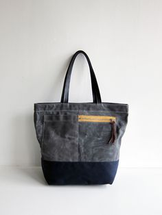 great looking waxed canvas bag