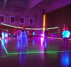 Midnight Volleyball // never thought of this! we should definitely set this up one week instead of black light 9 square