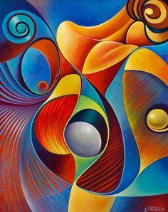 pinturas abstractas modernas para comedor