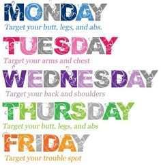 workout on Pinterest | Monday Workout, Saturday Workout and Friday ...