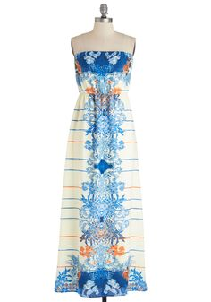 Bask in the Fun Dress. You dont need an island getaway to spend a stylish day in the sun - you prefer your own backyard and this maxi dress!  #modcloth