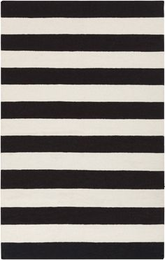 Two Tone Rug, Black and White