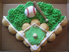 Cute baseball diamond cake!