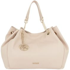 Guess Handle Bag - Isabeau Satchel Bag Nude - in rose, beige - Handle... ($170) ❤ liked on Polyvore featuring bags, handbags, guess satchel, beige purse, satchel handbags, guess handbags and handbag satchel