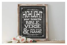 Instant 'Highlight your favorite BIBLE VERSE and sign by JoJoMiMi