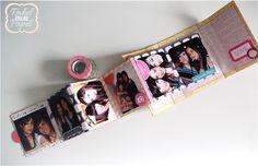 Rakel entre papel: Video Tutorial Mini Album Desplegable