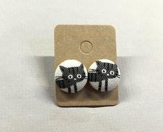 5/8 Size 24 Grey/Black Stripe Kitty Cat Fabric by RatDogInk