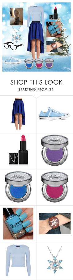 Hipster Elsa Outfit by kcurran2002 on Polyvore featuring Topshop, Converse, Amanda Rose Collection, Ray-Ban, Urban Decay, NARS Cosmetics, women's clothing, women's fashion, women and female