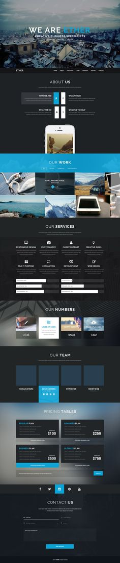 'Ether' is a new One Page WordPress portfolio theme brought to us by Canadian…