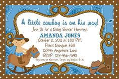 10 Cute Cowboy Baby Shower Invitations With By Partycraftingdivas