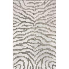 "nuLOOM Hand Tufted Wool Iridescent Zebra Area Rug - Grey (7'6""x9'6"")"