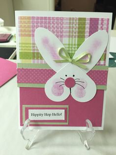 Hippity hop hello Easter card
