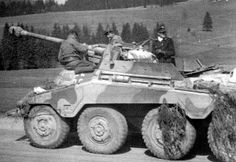 A open topped SdKfz 234/4 'Puma' with it's 75mm Pak 40 L 46 anti tank gun and 8 rad configuration