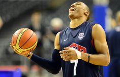 Russell Westbrook is having A LOT of fun at Team USA practice in Barcelona. http://www.usatoday.com/sports/olympics/sports/basketball/659890